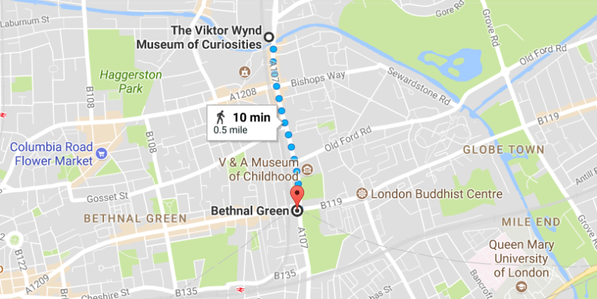 Viktor Wynd Museum_London_map
