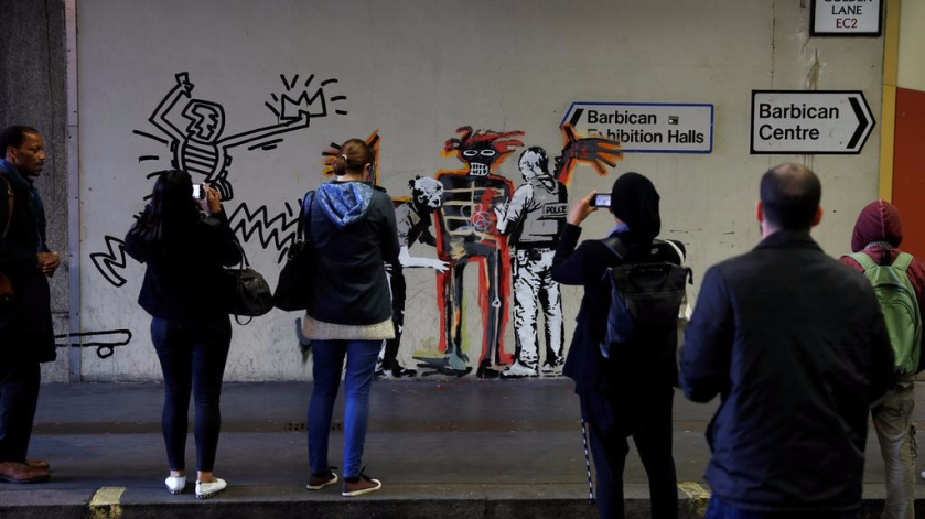Banksy the Barbican Centre in London