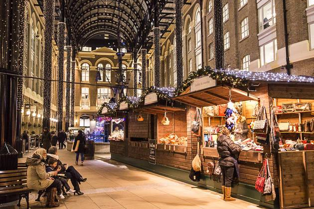 London Bridge City Christmas Market bancarelle