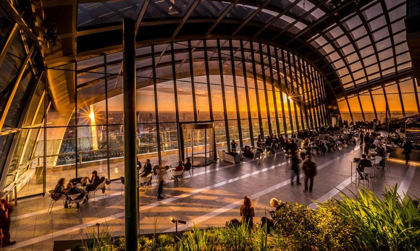 Sky Garden_tramonto_Londra