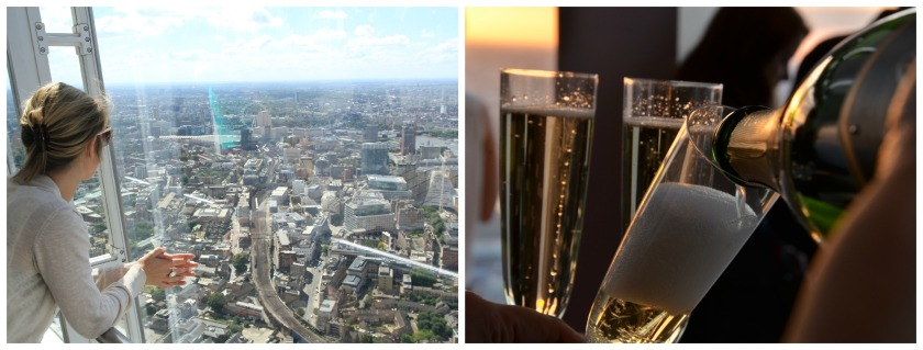 Vista dello Shard e Champagne
