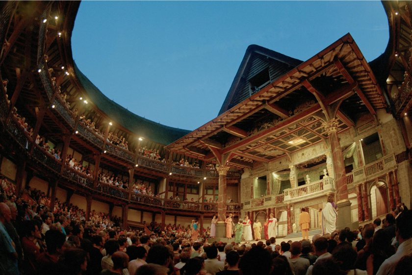 Globe theater stage