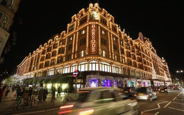 Harrods with christmas light