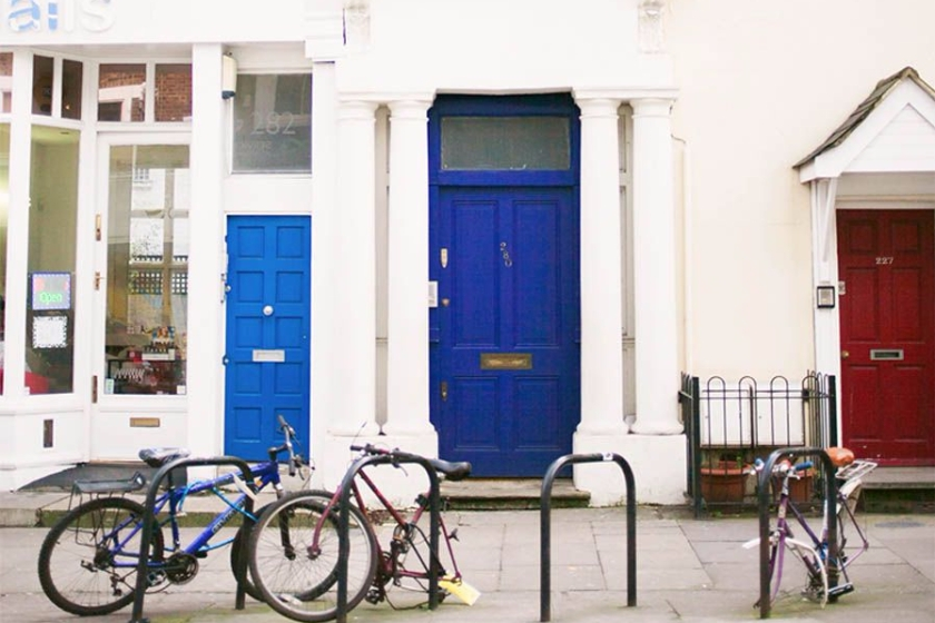Notting Hill location: the 'blue door' – 280 Westbourne Park Road, Notting Hill, London W11