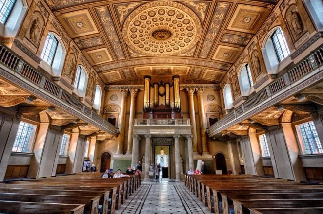 Royal Naval College Chapel Greenwich_4 matrimoni e un funerale