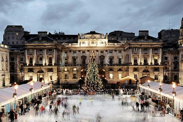 Somerset House with ice rink
