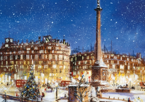 Trafalgar square_christmas tree_painting