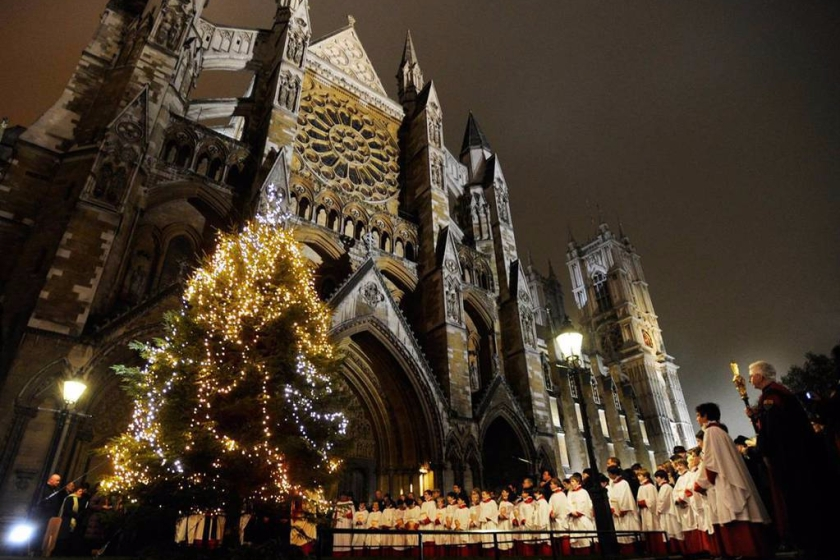 Westminster Abbey a Natale