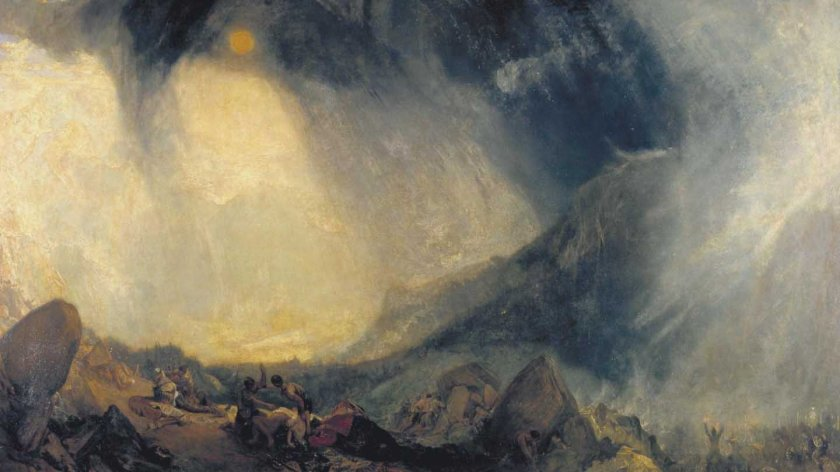 Snow Storm: Hannibal and his Army Crossing the Alps_Turner