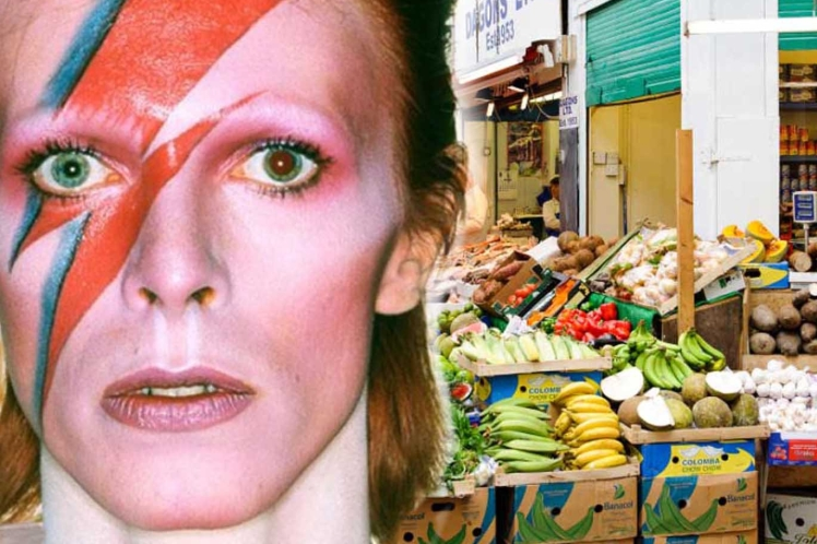Bowie a Brixton Market_London