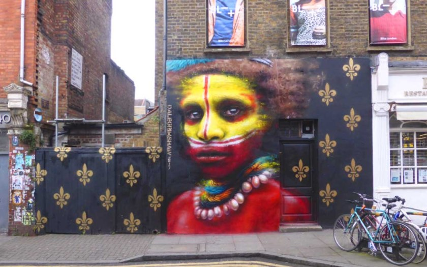 Graffito a Brick Lane_Londra
