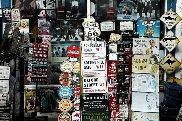 segnali vintage Londra